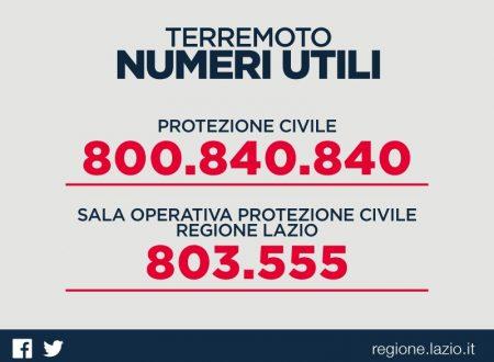 Numeri della Protezione Civile da utilizzare solo in caso di necessità