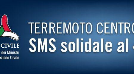 Con 2 euro al numero solidale 45500 aiuti le popolazioni colpite dal terremoto